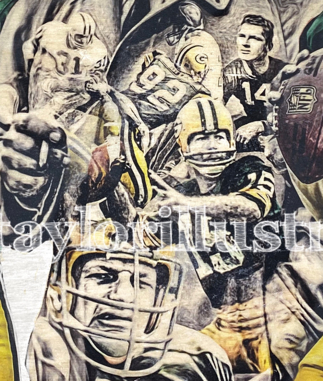 """Green Bay Legends"" (Favre, Lombardi, Rogers..) Green Bay Packers - NFL Football"