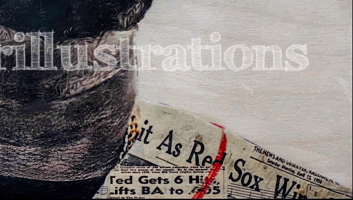 """Papi Part II"" (David Ortiz) Boston Red Sox - 1/1 Original on Wood"
