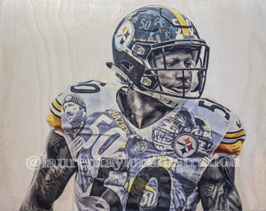 """Shazier"" Ryan Shazier Print - Pittsburgh Steelers"