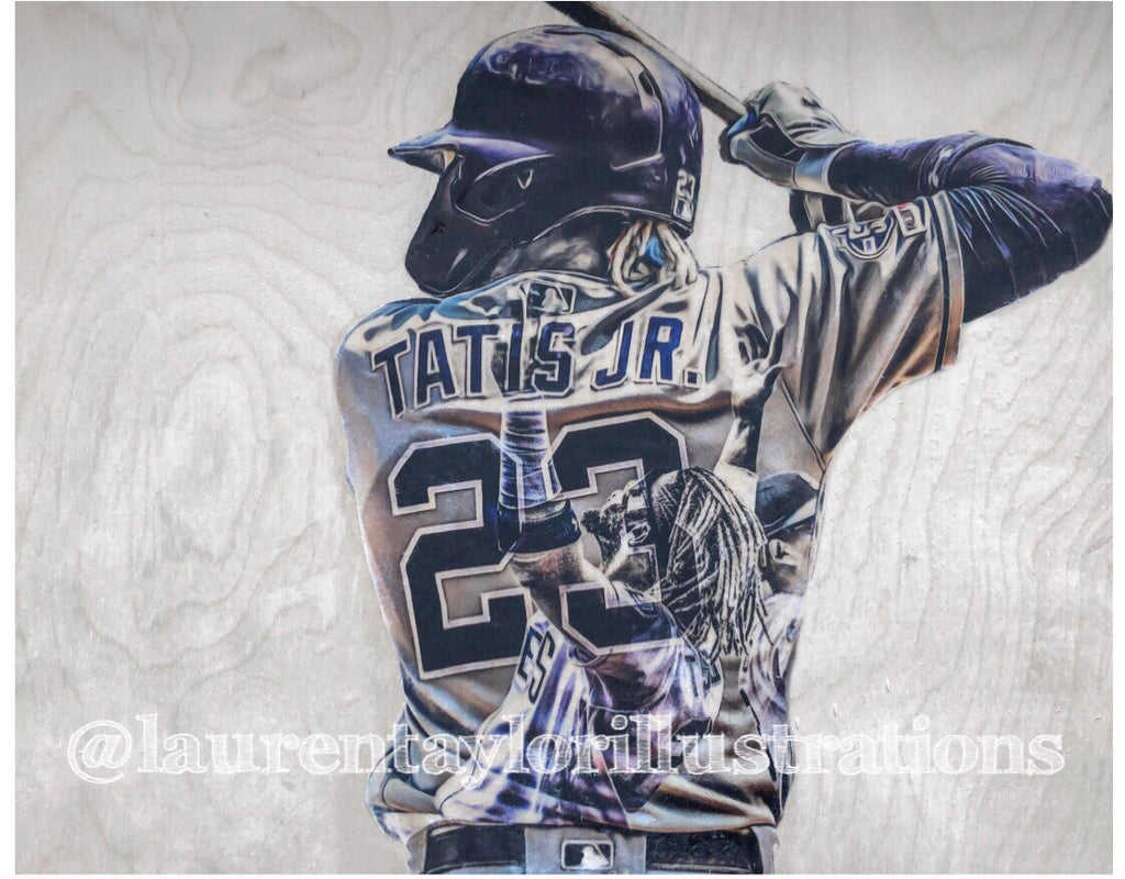"""Tatis Jr."" (Fernando Tatis Jr.) 1/1 Original on Wood"