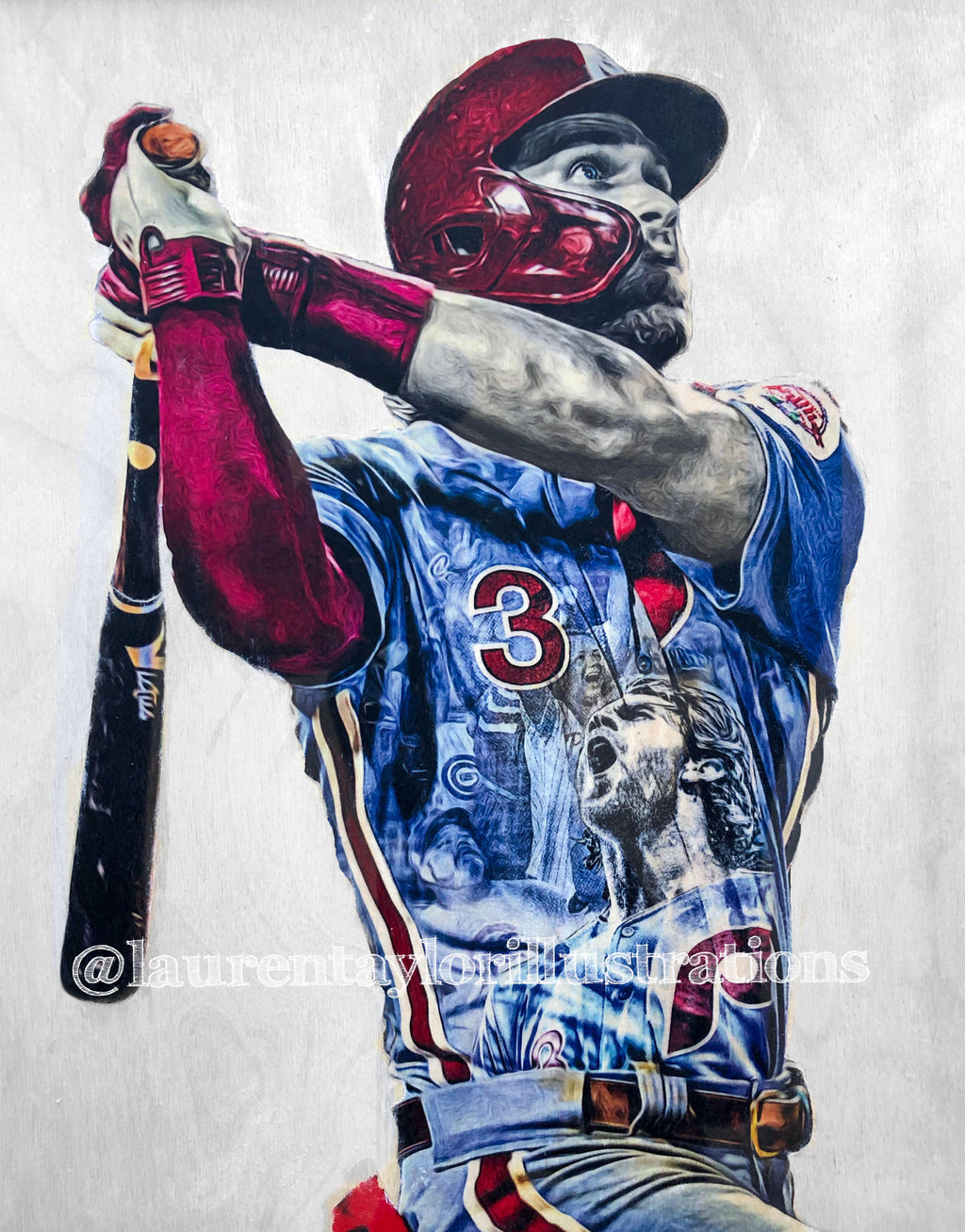 """HARPER Smash."" 1/1 Original on Wood"