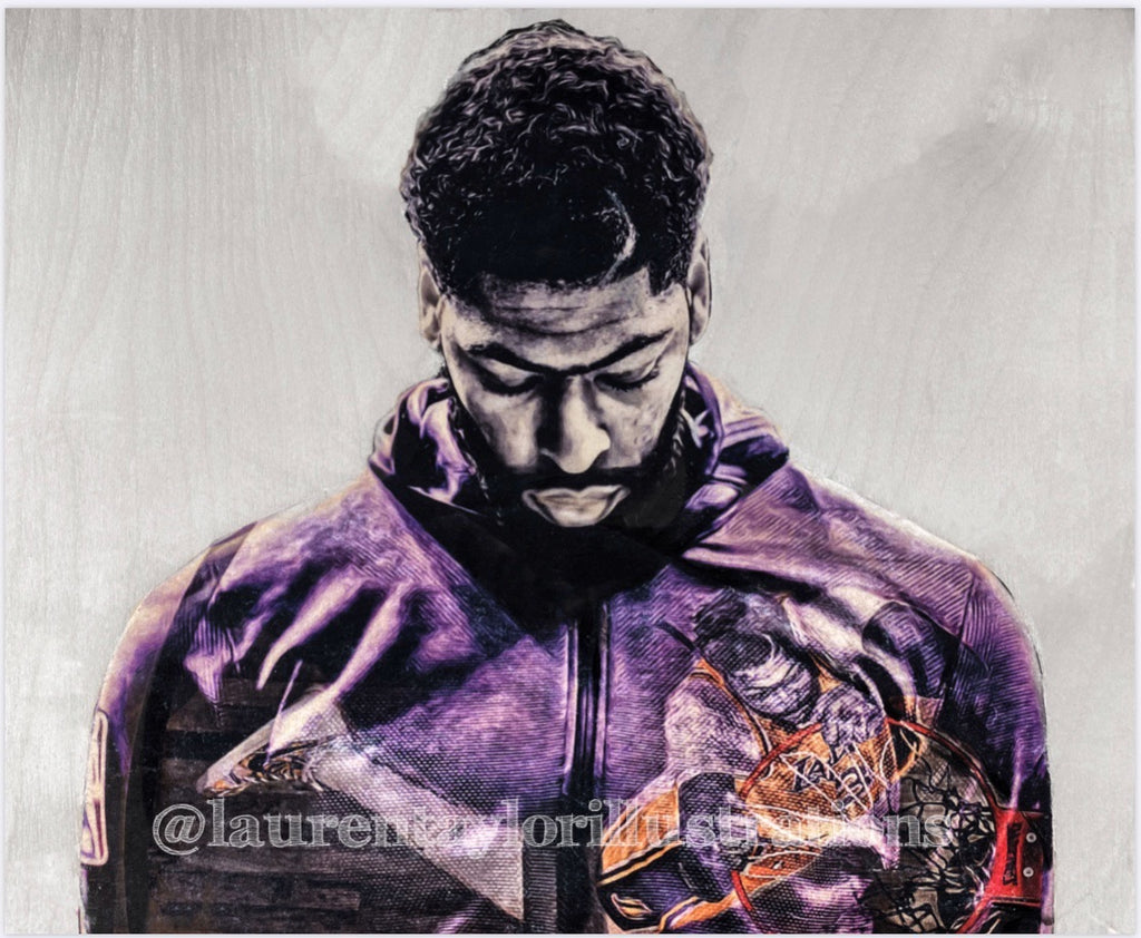 """The Brow"" (Anthony Davis) - Los Angeles Lakers Print"
