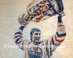 """GRetzky"" 1/1 Original on Wood"