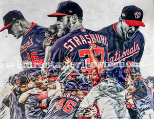 """Fight Finished"" (Washington Nationals WS Commemorative Piece) Part I - Original on Wood"