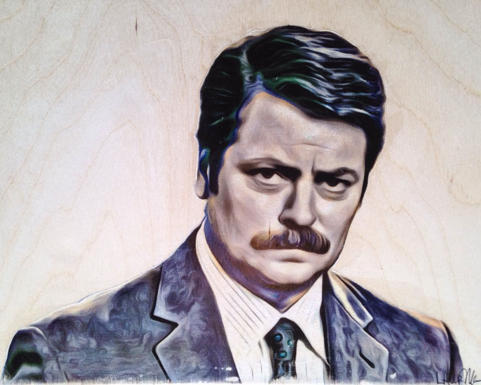 """Ron Swanson"" (Parks and Recreation) Print"