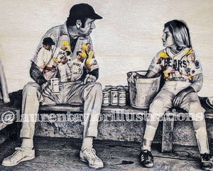 """Bad News Bears"" Original on Wood"