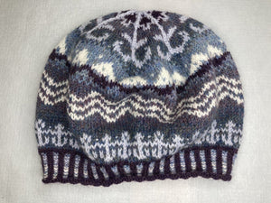 "Hand Knit Hat ""While The Billows Roll"""