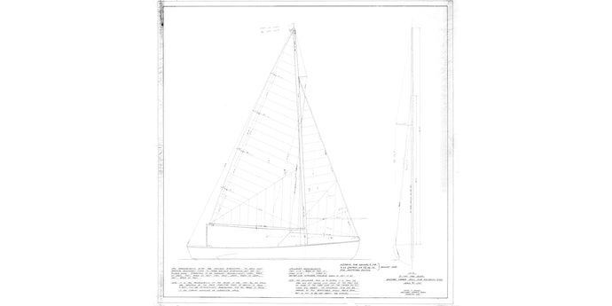 Boothbay Harbor Yacht Club One-Design sail plan