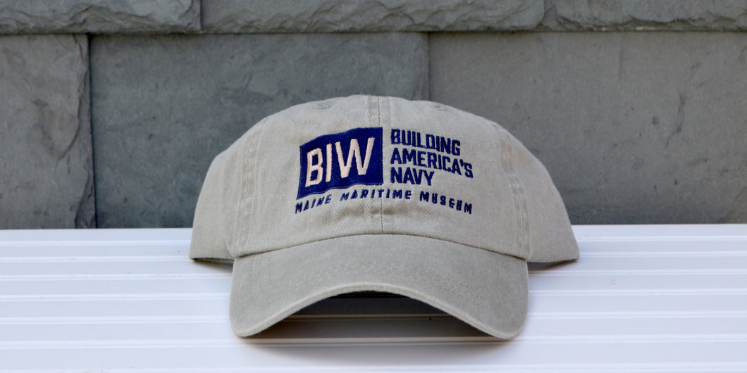 Khaki Bath Iron Works: Building America's Navy baseball hat