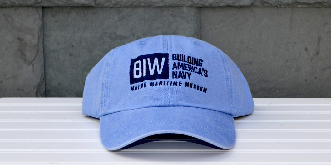 Periwinkle Bath Iron Works: Building America's Navy baseball hat
