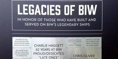 Legacies of BIW plaques at the BIW: Building America's Navy exhibit