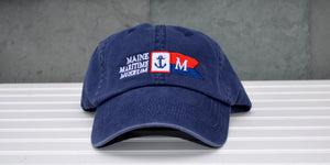 Washed Navy Burgee Baseball Hat