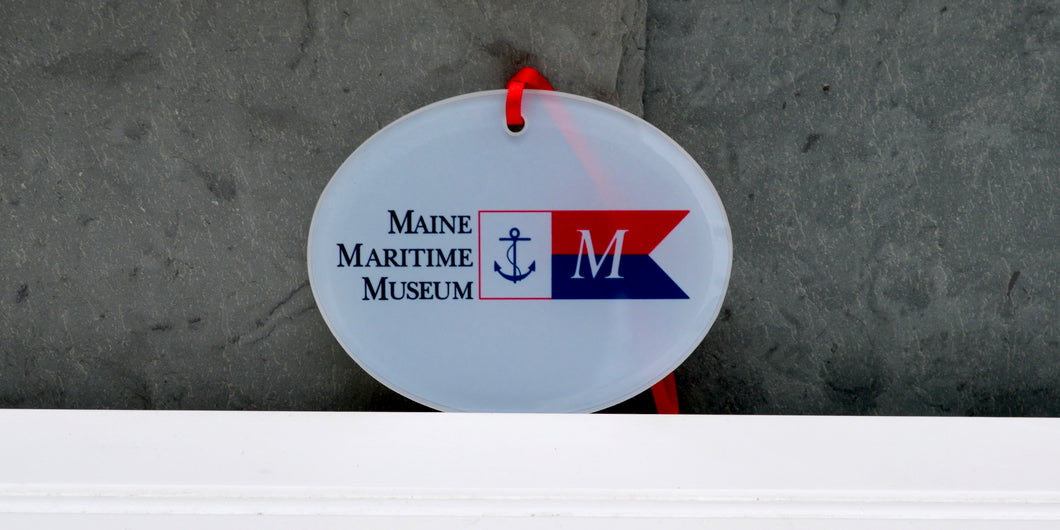 Maine Maritime Museum Burgee Glass Ornament