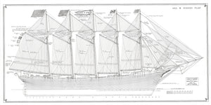 Cora F. Cressy sail and rigging plan