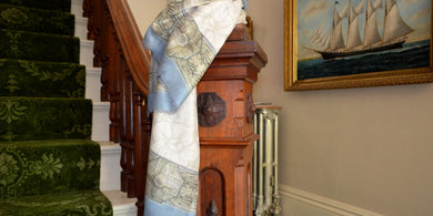 Blue Donnell House scarf