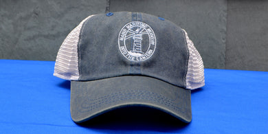 Blue Into the Lantern hat from Maine Maritime Museum