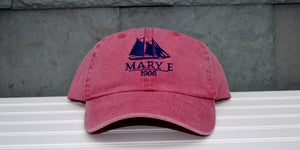Red Mary E Baseball Hat