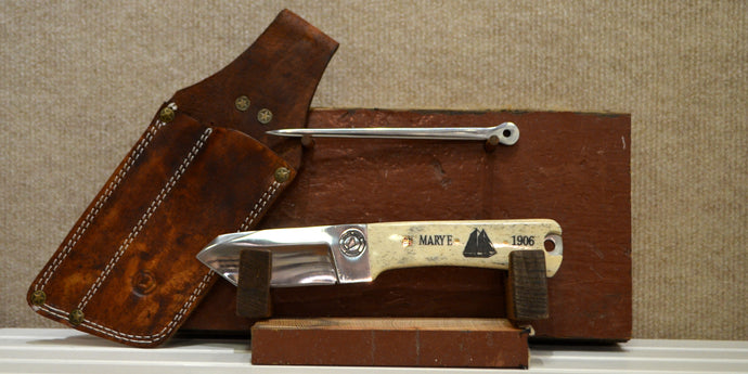 Mary E Rig Knife with marlin spike made by Maine Knife Company for Maine Maritime Museum