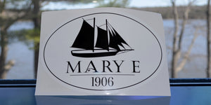 Mary E Logo Oval Sticker