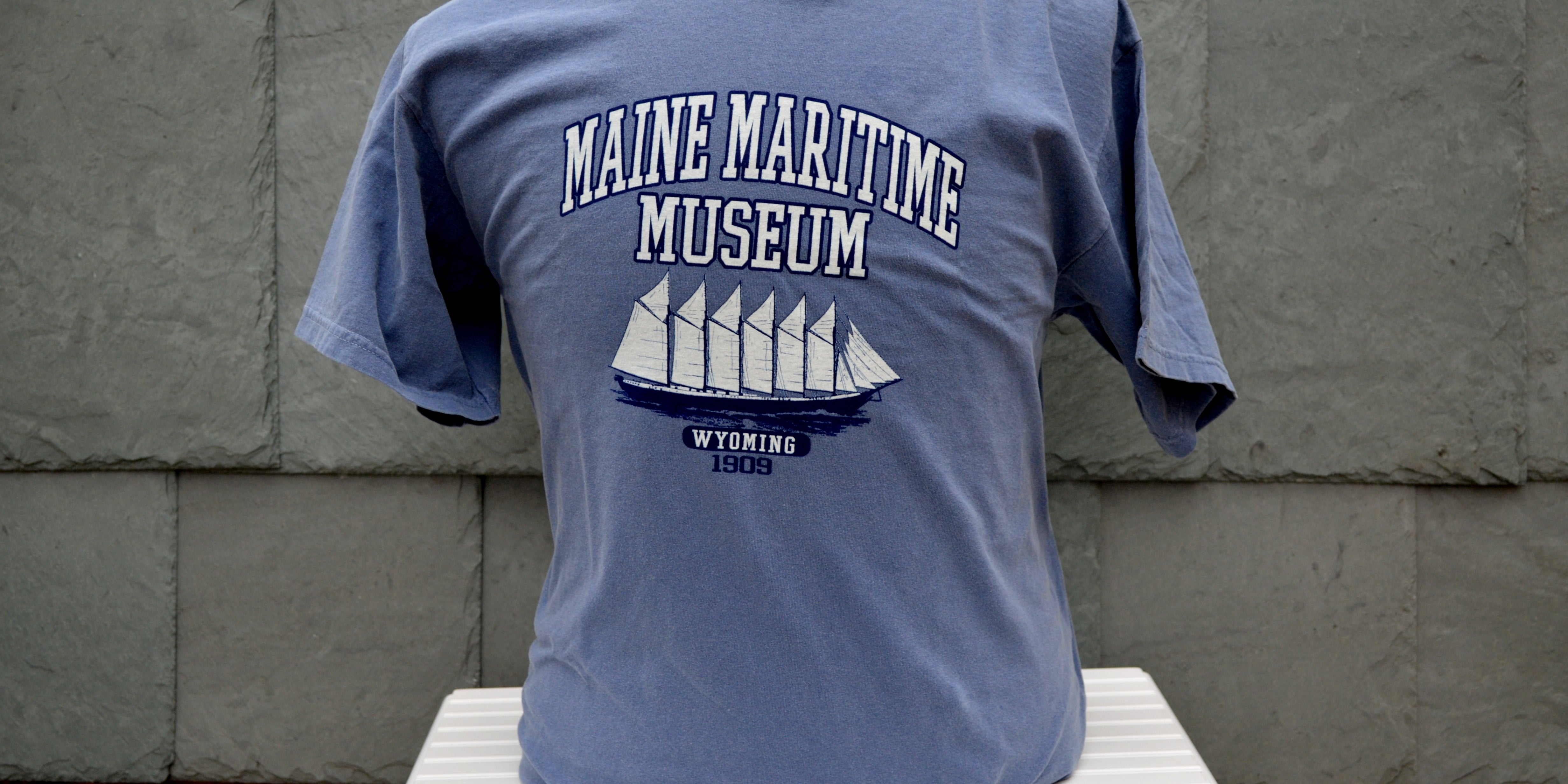Maine Maritime Museum Blue Wyoming T-Shirt