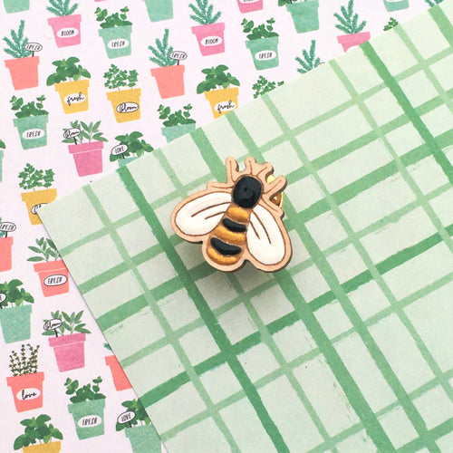 In the Garden Bee Lapel Pin