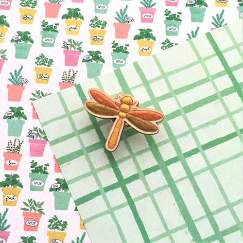 In the Garden Dragonfly Lapel Pin