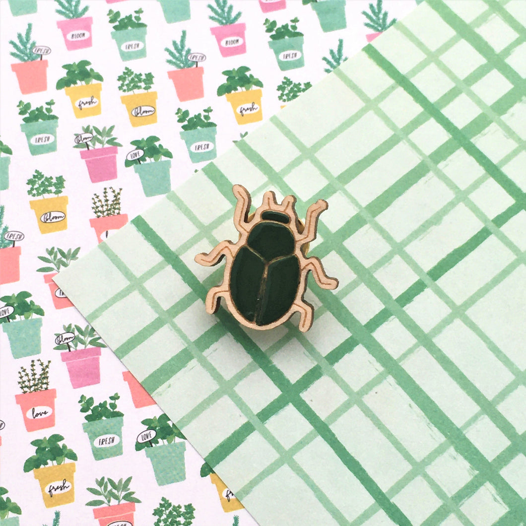 In the Garden Scarab Lapel Pin