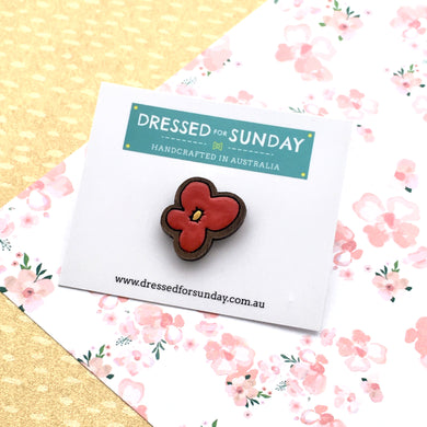 Blushing Hearts Flower Pin - Dressed for Sunday