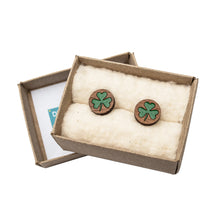 Load image into Gallery viewer, Shamrock Cuff Links
