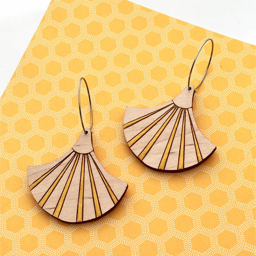 Deco Darling Maple Fan Earrings