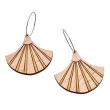 Load image into Gallery viewer, Deco Darling Maple Fan Earrings - Dressed for Sunday
