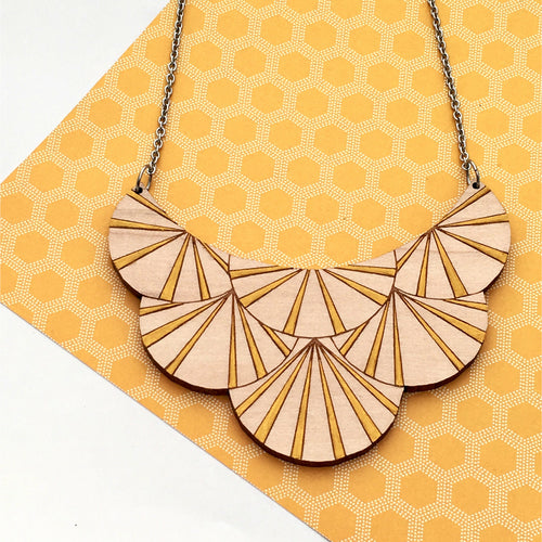 Deco Darling Maple Fan Necklace