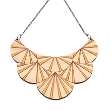 Load image into Gallery viewer, Deco Darling Maple Fan Necklace - Dressed for Sunday