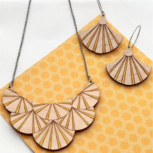 Load image into Gallery viewer, Deco Darling Maple Fan Necklace