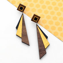 Load image into Gallery viewer, Deco Darling Deco Fan Earrings
