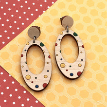 Load image into Gallery viewer, Everyday Confetti Oval Dangle Earrings - Dressed for Sunday