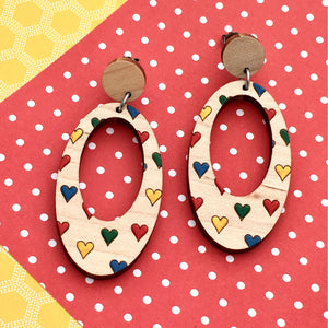 Everyday Confetti Oval Dangle Earrings - Dressed for Sunday