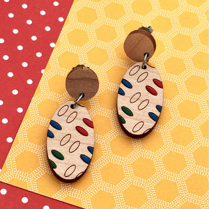 Everyday Confetti Oval Drop Earrings - Dressed for Sunday