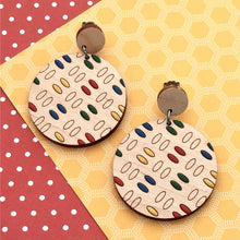 Load image into Gallery viewer, Everyday Confetti Round Dangle Earrings - Dressed for Sunday