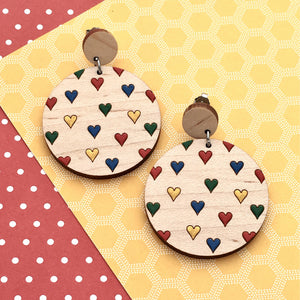 Everyday Confetti Round Dangle Earrings - Dressed for Sunday