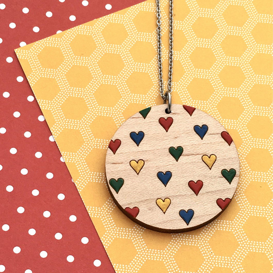 Everyday Confetti Round Necklace