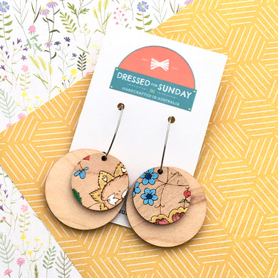 French Wallpaper Hoop Earrings - Dressed for Sunday