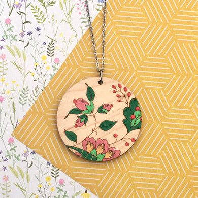 French Wallpaper Round Necklace - Dressed for Sunday