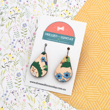 Load image into Gallery viewer, Teardrop French Wallpaper Drop Earrings