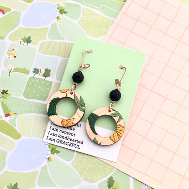 Grace Within Round Leaf Earrings