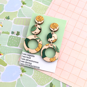 Grace Within Triple Leaf Earrings - Dressed for Sunday