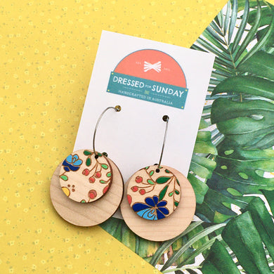 Mexi Folk Hoop Earrings - Dressed for Sunday