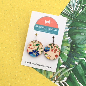 Mexi Folk Round Drop Earrings