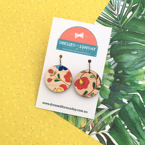 Mexi Folk Round Drop Earrings - Dressed for Sunday