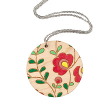 Load image into Gallery viewer, Dressed for Sunday Mexi Folk Round Necklace Handmade Wooden Jewellery Vintage Inspired Canberra